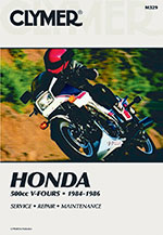 Clymer Repair Manual for Honda VF500C MAGNA V30 and VF500F INTERCEPTOR 1984-1986