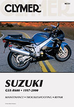 Clymer Repair Manual for Suzuki GSXR 600 GSXR600, 1997-2000