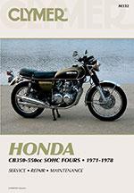 Clymer Repair Manual for Honda CB350F CB400F CB500 CB550 and CB550F