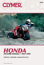 Clymer Repair Manual for Honda ATC250R Singles 1981-1984