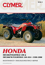Clymer Repair Manual for Honda TRX300/FOURTRAX 300 and TRX300FW 4x4 1988-2000