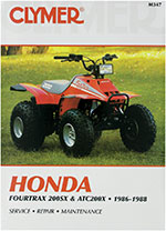 Clymer Repair Manual for Honda Fourtrax 200SX 1986-1988 and ATC 200X 1986-1987