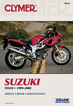 Clymer Repair Manual for Suzuki SV650 and SV650S 1999-2002