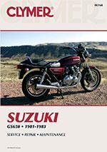 Clymer Repair Manual for Suzuki GS650 1981-1983