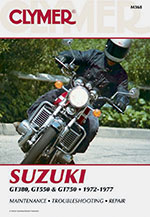 Clymer Repair Manual for Suzuki GT380, GT550 and GT750 1972-1977