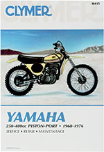 Clymer Repair Manual for Yamaha DT1, DT2, DT3, DT250, DT360, DT400, MX250, MX360