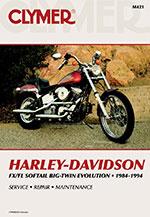 Clymer Repair Manual for Harley-Davidson FLS/FXS Evolution 1984-1999