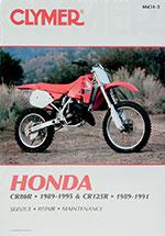 Clymer Repair Manual for Honda CR80R 1989-1995, CR125R 1989-1991