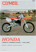 Clymer Repair Manual for Honda CR80R, CR80RB EXPERT 1996-2002