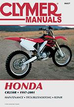 Clymer Repair Manual for Honda CR250R 1997-2001