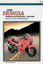 Clymer Repair Manual for Honda VFR800FI Interceptor 1998-2000