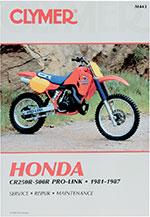 Clymer Repair Manual for Honda CR250R 81-87, CR450R 81, CR480R 82-83, CR500R 84-87