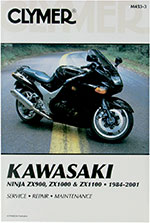 Clymer Repair Manual for Kawasaki ZX900, ZX1000, ZX1000 ZX-10, ZX1100 ZX-11