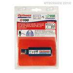 TecMate OptiMate 2400mA USB Battery Charger & Monitor, SAE input, w/Battery Protection O100