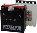 Parts Unlimited AGM Maintenance-Free Battery YTX16-BS .8 LTR (RTX16-BS)
