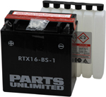 Parts Unlimited AGM Maintenance-Free Battery YTX16-BS-1 (RTX16-BS-1)