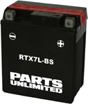 Parts Unlimited AGM Maintenance-Free Battery .33 LITER (RTX7L-BS)