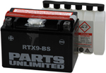 Parts Unlimited AGM Maintenance-Free Battery .40 LITER (RTX9-BS)