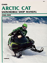 Clymer Repair Manual for Arctic Cat WILDCAT 650 1988-1989, EL TIGRE EXT 1989