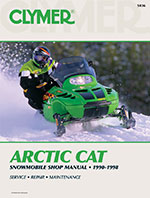 Clymer Repair Manual for Arctic Cat EXT EFI, Deluxe, , 550 Mountain Cat, 580 DLX