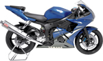 YOSHIMURA RS-3 Street Series Slip-On Exhaust System (Stainless Muffler w/ Aluminum End Cap) 2006-2009 Yamaha YZF-R6S