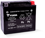 Yuasa Factory-Activated Maintenance-Free AGM Battery (YTX20L) YUAM420BS